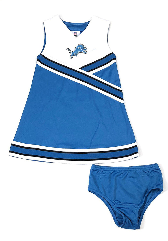 Officially Licensed Detroit Lions Football Girls Cheerleader Dress, XS4 - S6/6X