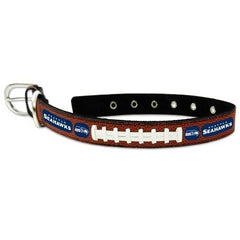 "NFL Seattle Seahawks Leather Dog Collar, Small 10"" - 14"""