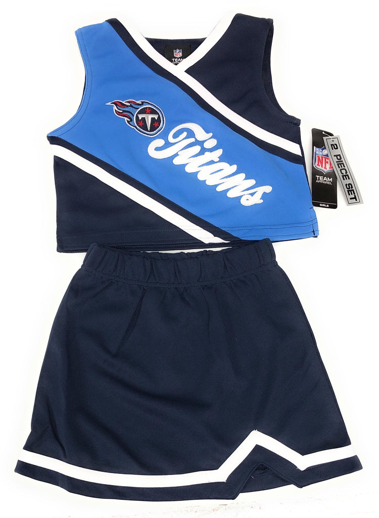OuterStuff Tennessee Titans NFL 2 Piece Cheerleader Team Color Set