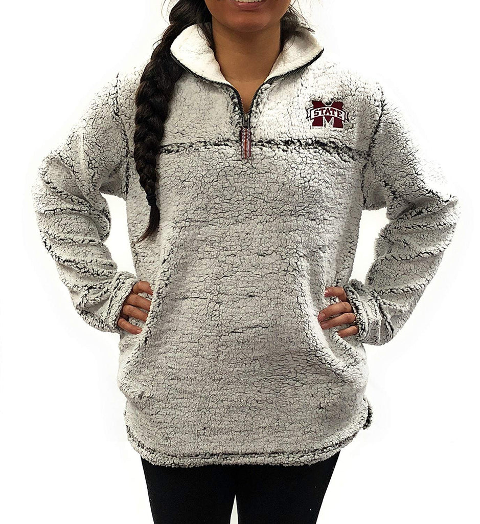 Mississippi State Bulldogs Poodle Jacket 1/4 Zipper University Apparel, XXL