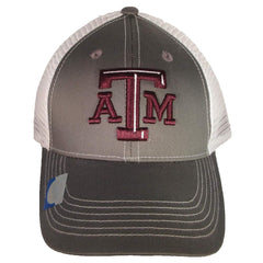 Texas A&M Aggies Baseball Cap Grey Ghost mesh Back