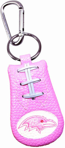 Baltimore Ravens Fan Girls Pink Leather NFL Football Keychain Carabiner Clip