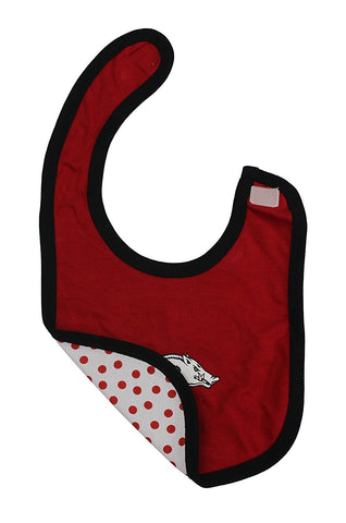 Arkansas Razorbacks Girls Clothing, University 3 Piece Bodysuit Bib Booties Set, 18-24Months