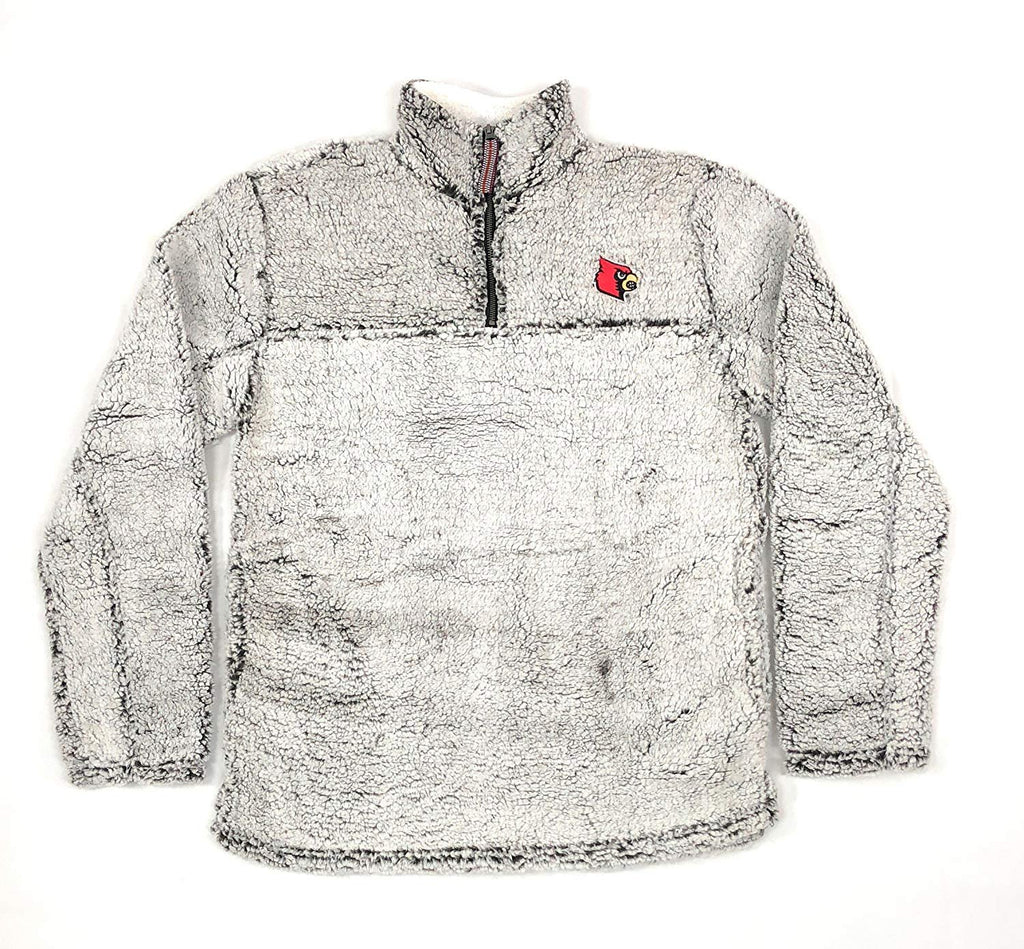 Louisville Cardinals Poodle Jacket; 1/4 Zipper University Apparel Clothing