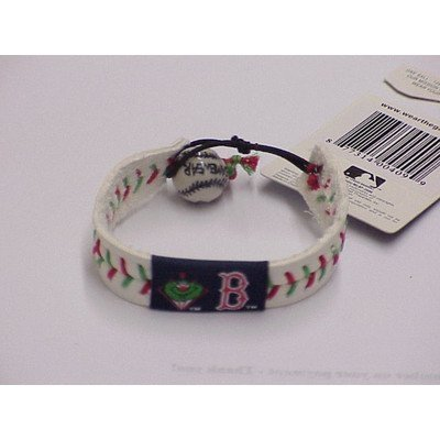 Boston Red Sox Leather Wrist Band Bracelet with Mascot WALLY - Christmas Limited Edition