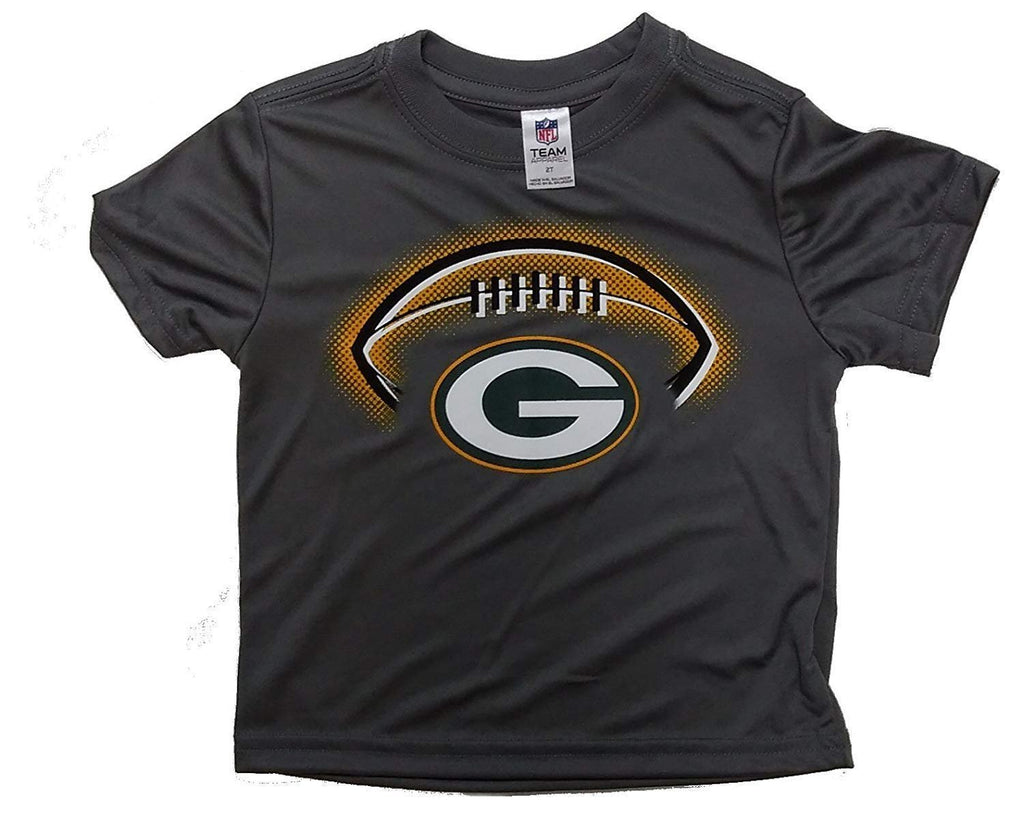 Green Bay Packers Grey Infant/Toddler Short Sleeve Poly T-Shirt by Gerber, 12M or 18M