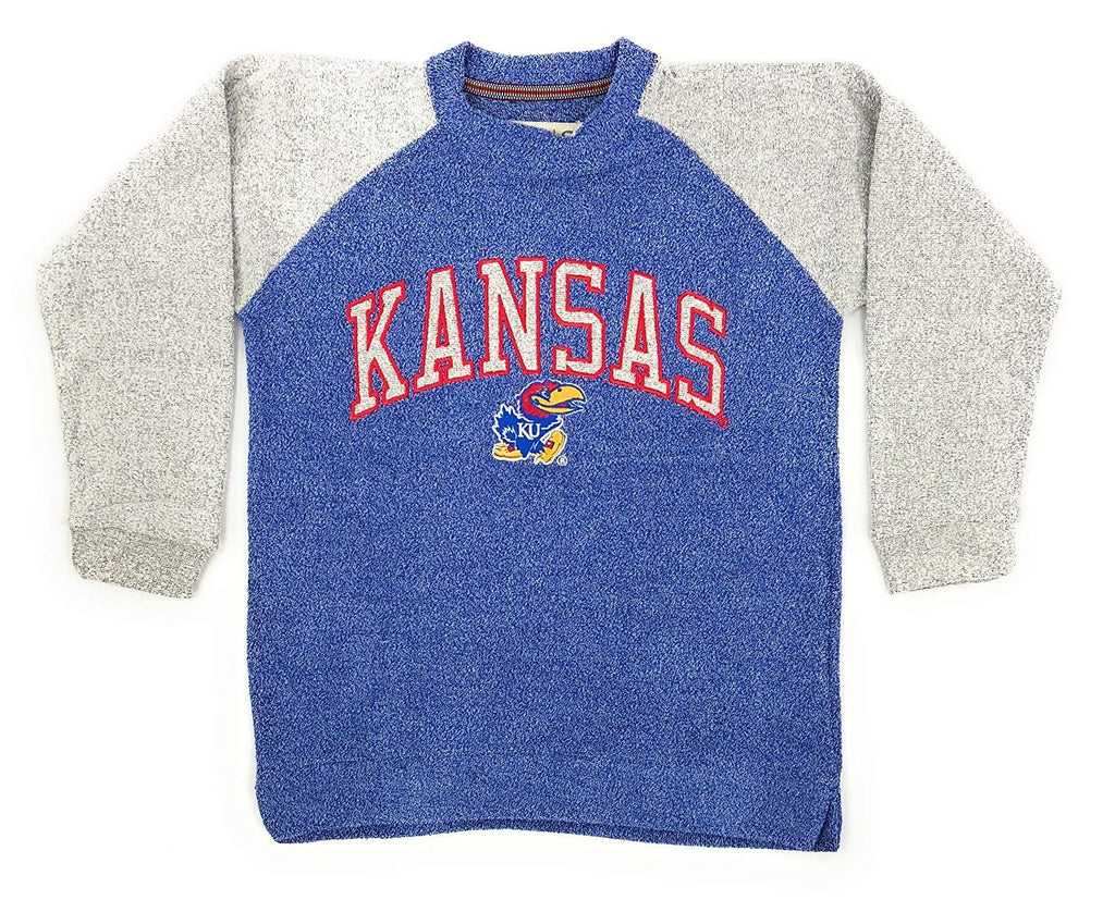University of Kansas Jayhawks Womens Heidi Comfy Terry Crew Neck Sweatshirt , S-XL