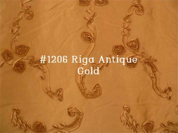 #9P550 Taupe/Gold Faux Silk Curtain (Use Discount Code)