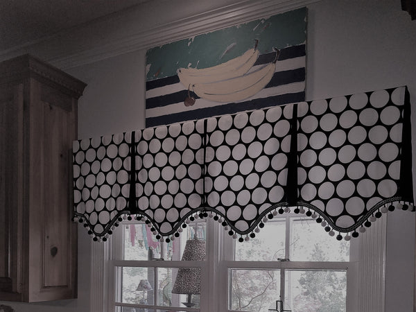 #243B YOUR FABRIC... OUR TRIM, LINING, & LABOR Paris in the Spring Valance  YOU PAY 1/2 DOWN