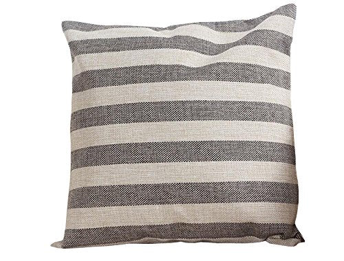 Warmoon Supersoft Stripe Throw Pillow for Couch Sofa Home Decor 18 X 18 Inches