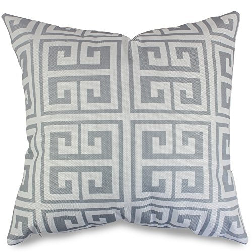 popeven Grey Geometric Pattern Pillow Covers Decorative Sets of 4 Sofa Pillow Case for Living Room Throw Pillows Sets for Couch