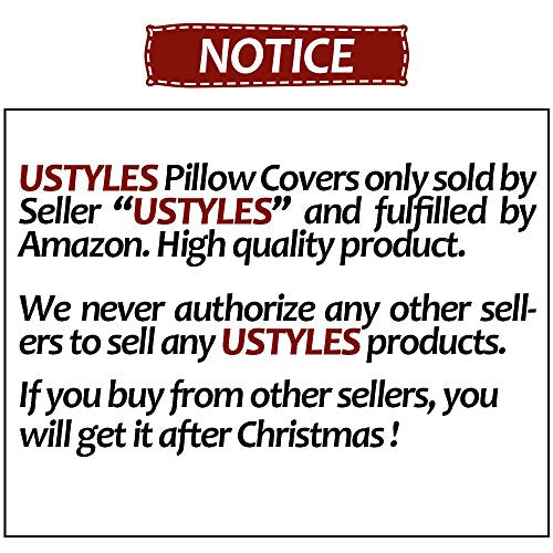 6 Packs Chirstmas Pillows Covers 18 X 18 Christmas Décor Pillow Covers Christmas Decorative Throw Pillow Case Sofa Home Décor