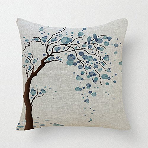"Lyn Cotton Linen Square Throw Pillow Case Decorative Cushion Cover Pillowcase for Sofa 18 ""X 18 "" Lyn-82 (7)"