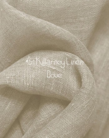 Roman Shade #76  (Light & Airy Linen Relaxed, Unlined)