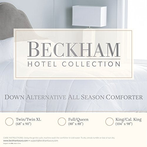 Beckham Hotel Collection 1200 Series - Lightweight - Luxury Goose Down Alternative Comforter - Hotel Quality Comforter and Hypoallergenic -Full/Queen - White