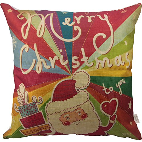 "HOSL SD24 Merry Christmas Series Throw Pillow Case Decorative Cushion Cover Pillowcase Square 18"" - Set of 4"