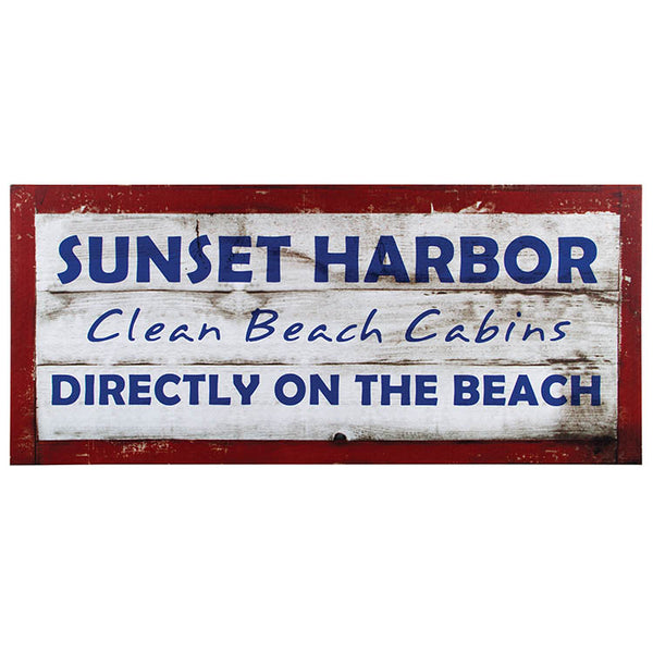 #72459 Sunset Harbor Sign Canvas