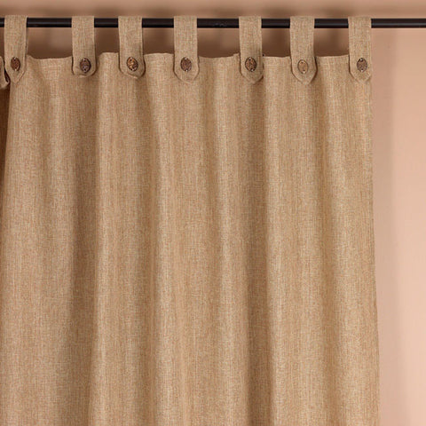 #2020 Burlap (Look-a-Like Fabric)Tabs Curtains with Buttons