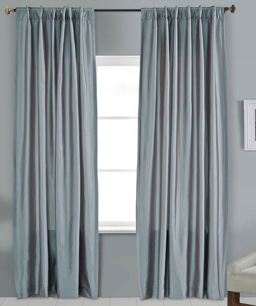 #4P505 Cotton Blend Curtain in Cool Colors (Use Discount Code)