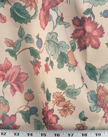 Floral Curtains, with Pinch Pleats    #2001   PAY 1/2 DOWN