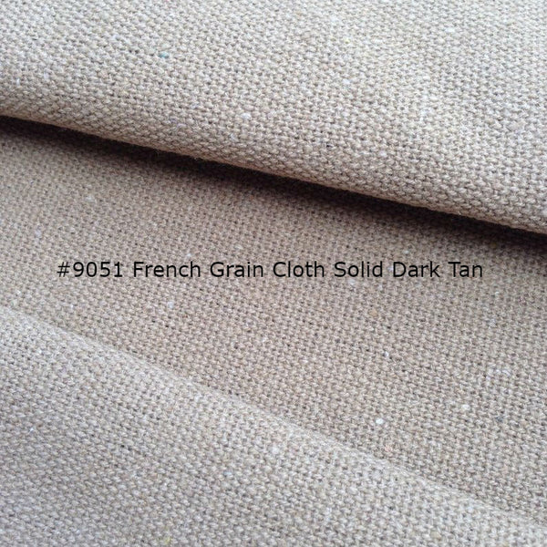 "Roman Shade #097 (French ""Grain Sack"" Relaxed, Unlined)"
