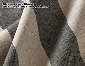 #500 Linen Fabric Stripe Blend Black