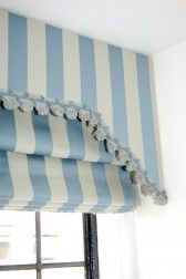 Roman Shade #411 With Valance & Trim