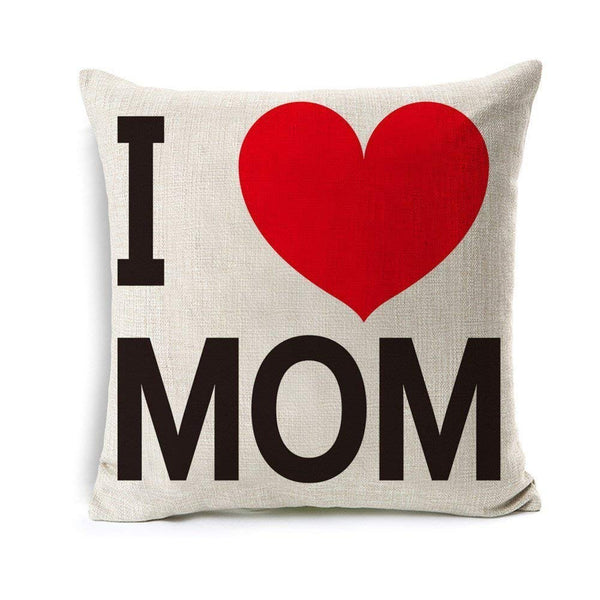 TP74 I Love Mom Throw Pillow
