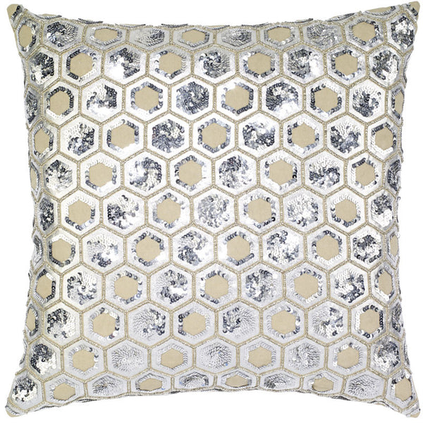 #C1013 Linen Sequin PILLOW 20 x 20