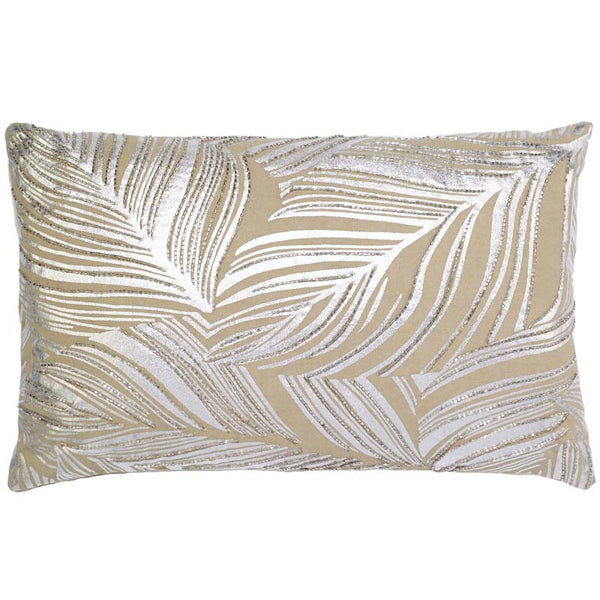 #C1014 Silver Leaf PILLOW 12 x 20