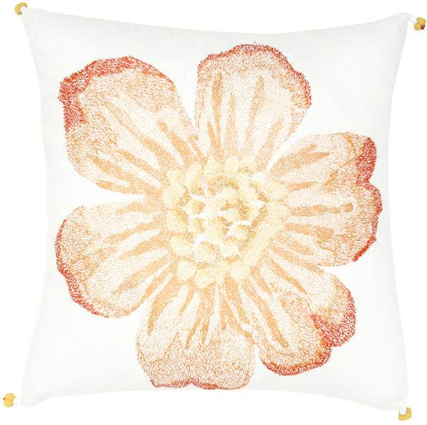 #C684 Flower Embroidery PILLOW 20 x 20