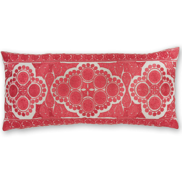 #C841 Gothic Coral Red PILLOW 14 x 31