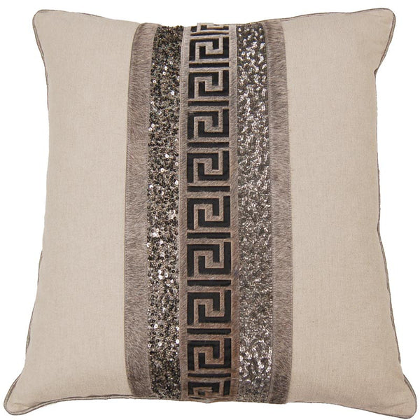 #C867 Sequin Leather PILLOW 20 x 20