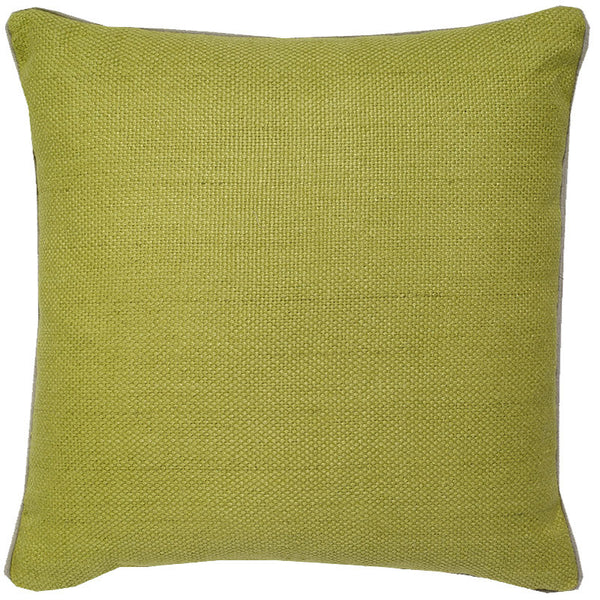 #C896 Chartreuse Green Basket Weave PILLOW 22 x 22