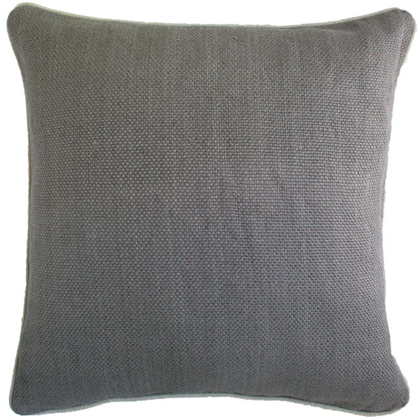 #C900 Pewter Basket Weave PILLOW 22 x 22