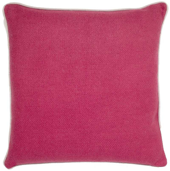 #C905 Red Basket Weave PILLOW 22 x 22