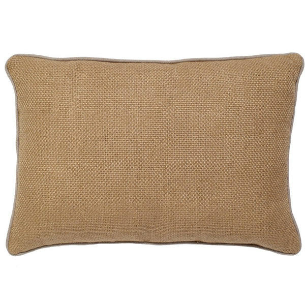 #C907 Camel Basket Weave PILLOW 14 x 20