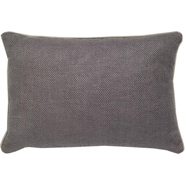 #C914 Pewter Basket Weave PILLOW 14 x 20