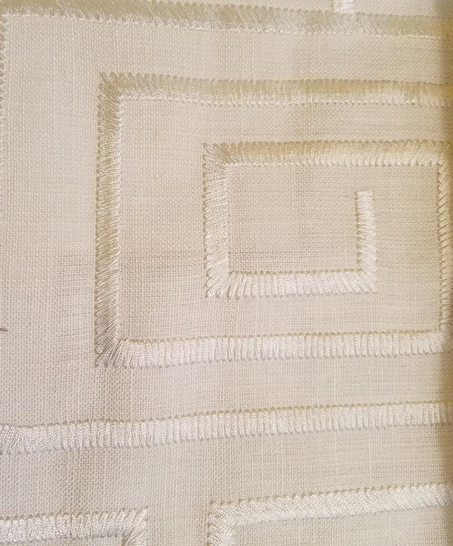 #Designer310 Embroidered, In The Groove, Roman  (slats) YOU PAY  1/2  DOWN