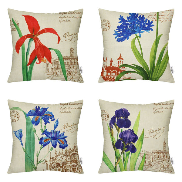 TP7 Flower Garden Throw Pillows Group