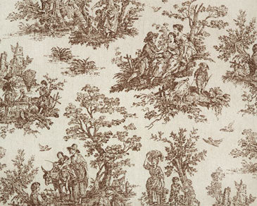 #099 Toile Roman with Scalloped Edge  (slats) YOU PAY  1/2  DOWN