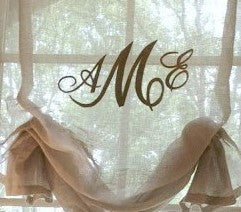 Monogrammed Stationary Sheer Faux Roman #119   PAY 1/2 DOWN