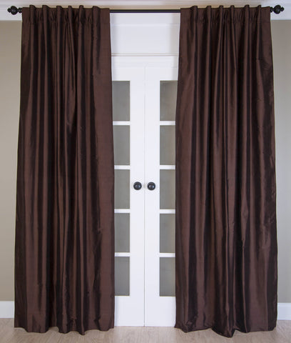 #4P305 Brown SILK Curtain (Use Discount Code)