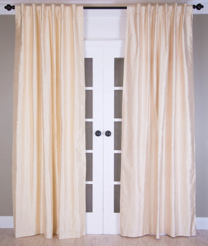 #3P307  Ivory SILK Curtain (Use Discount Code)