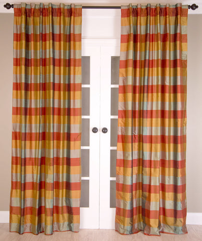 #13P3 Medium Check Curtain (Use Discount Code)