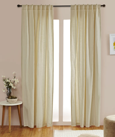 #3P505 Cotton Blend Curtains in Naturals (Use Discount Code) YOU PAY 1/2 DOWN