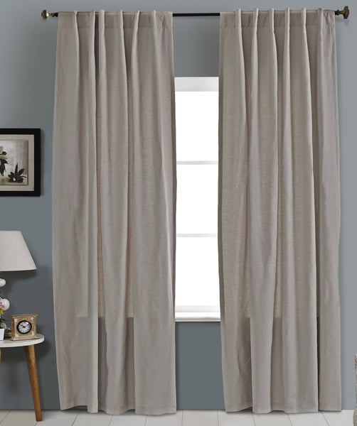 #1P505  Cotton Blend Curtains in Greys (Use Discount Code)