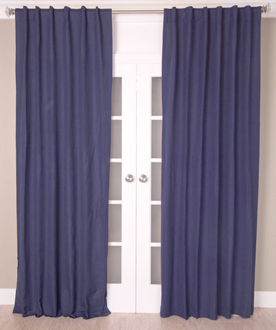 #2P505 Cotton Blend Curtains  in Dark Colors (Use Discount Code) YOU PAY 1/2 DOWN