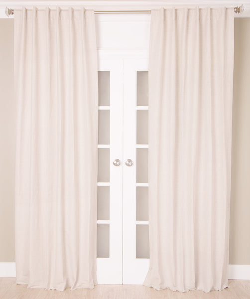 #P505 White Linen Curtain (Use Discount Code) Pay 1/2 Down