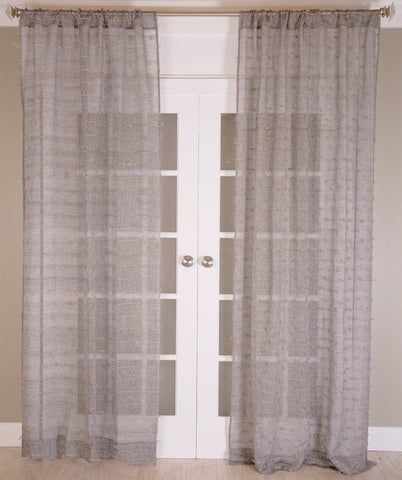 #P519 Charcoal Juteknot Curtain (Use Discount Code)